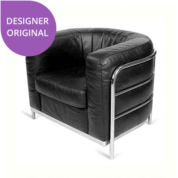 Le Corbusier Black Rounded Armchair