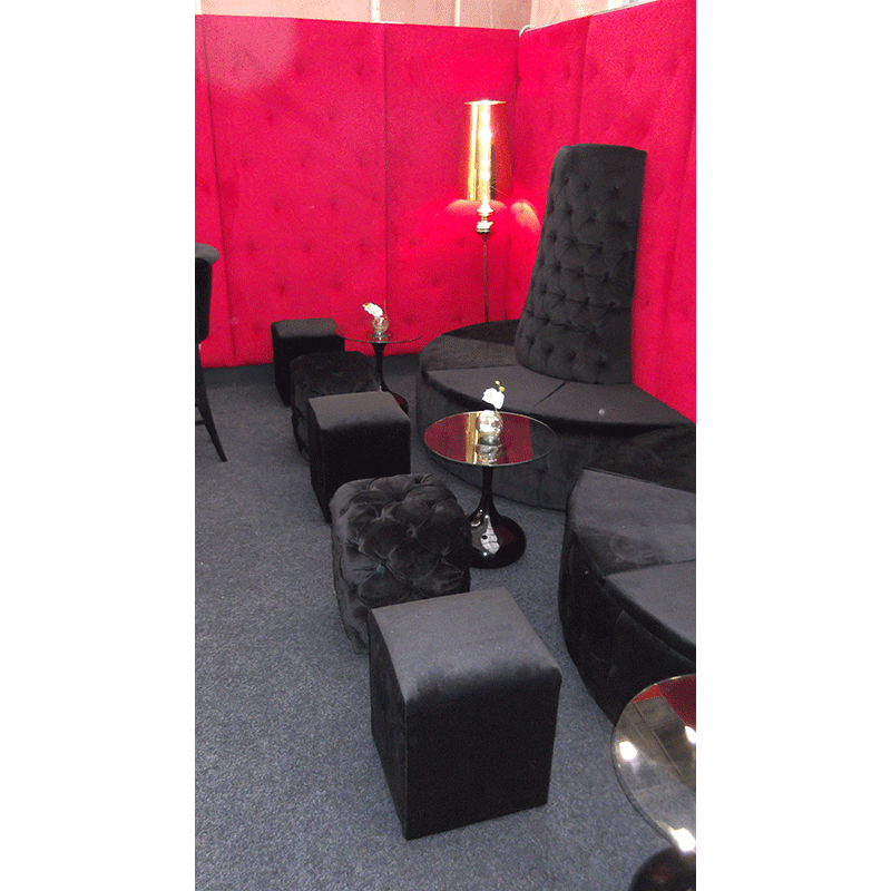 Black Velvet Seating Hire