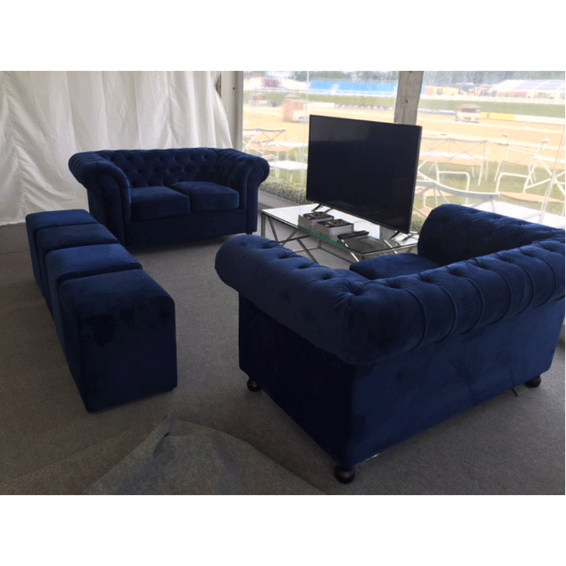 Blue Chesterfield Sofa Hire