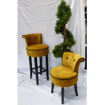 George Gold Velvet Bar Stool