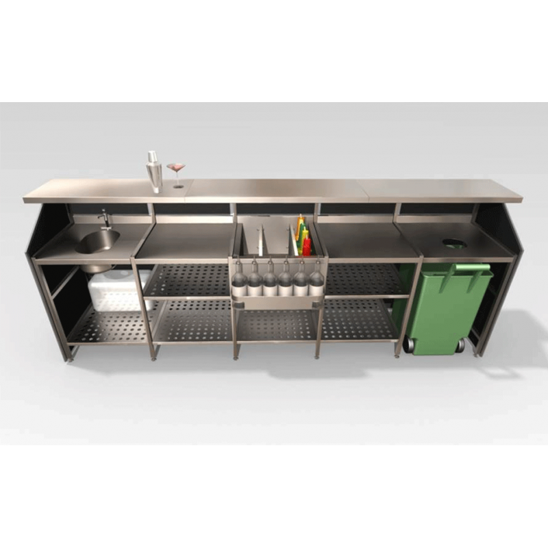 3 Bay Porta Bar Black
