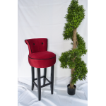 Red Velvet Bar Stool Hire