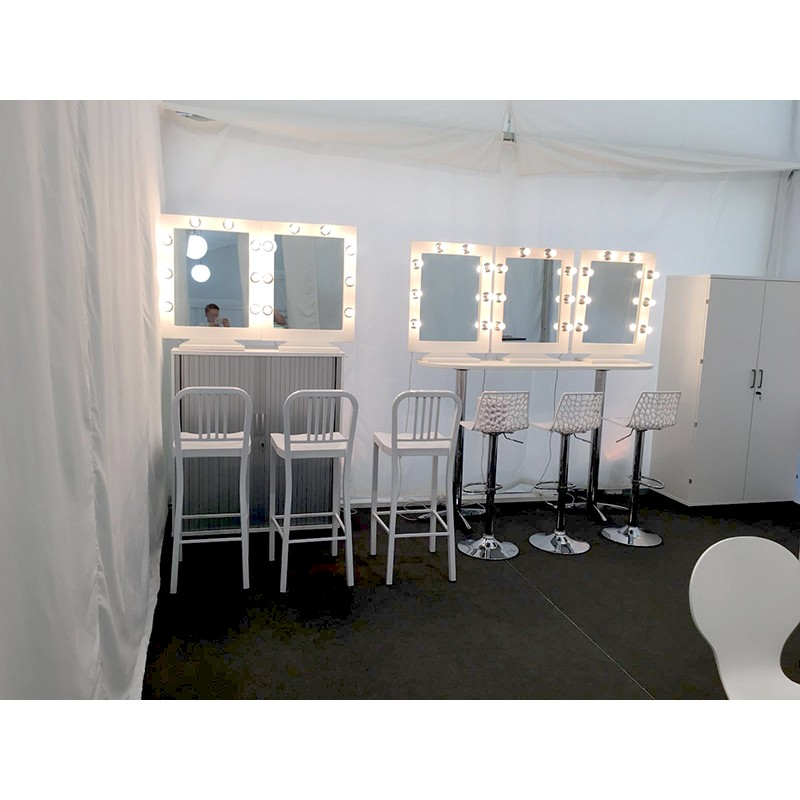 White Aluminium Stool Rental