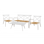Taupe Aluminium Outdoor Poseur Table