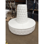 White Leather Chesterfield Style Doughnut Tower