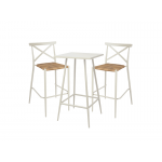 White Aluminium Outdoor Bar Stool with Rattan Seat