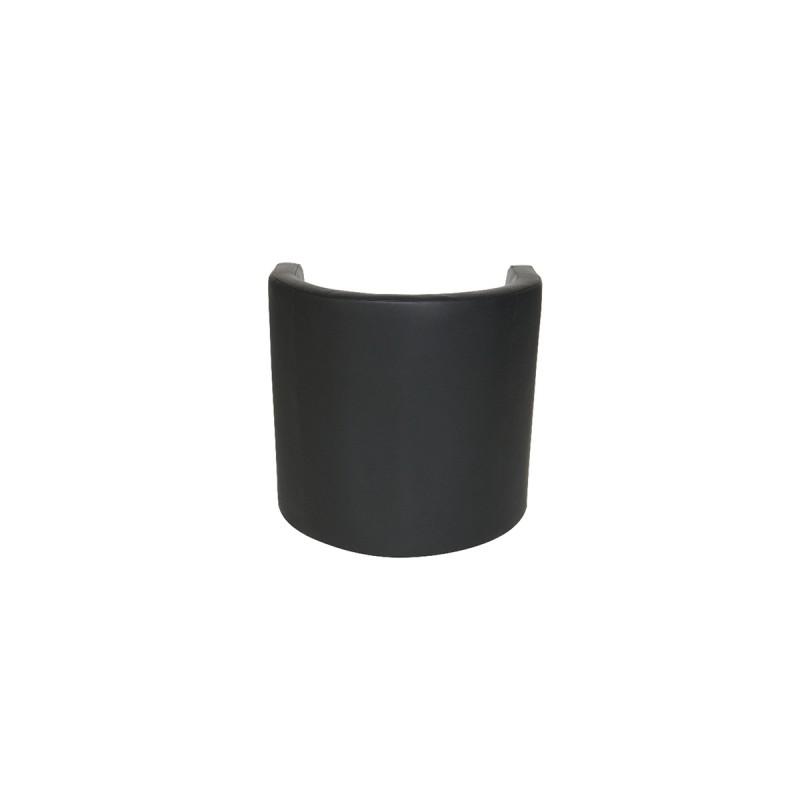 Black Faux Leather Tub Chair
