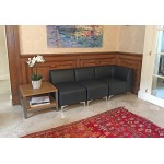 Leather Modular Reception Sofa - Corner