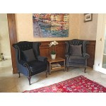 Black Velvet Wingback Chair