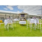 White Outdoor Bar Stool Hire