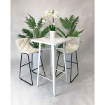 White Poseur Table Hire
