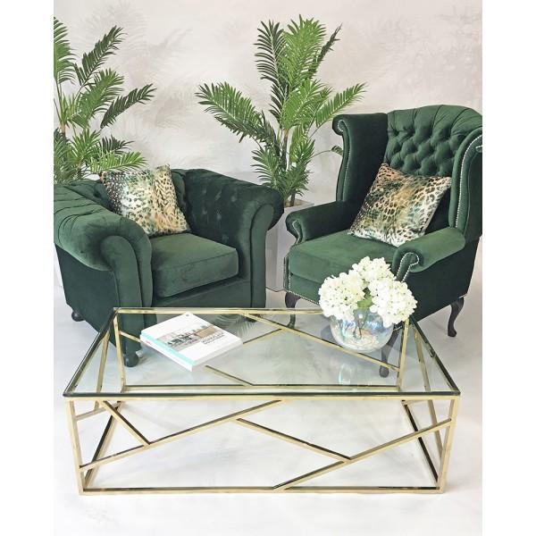 Green Velvet Wingback Chair