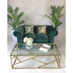 Green Velvet Chesterfield Style Armchair