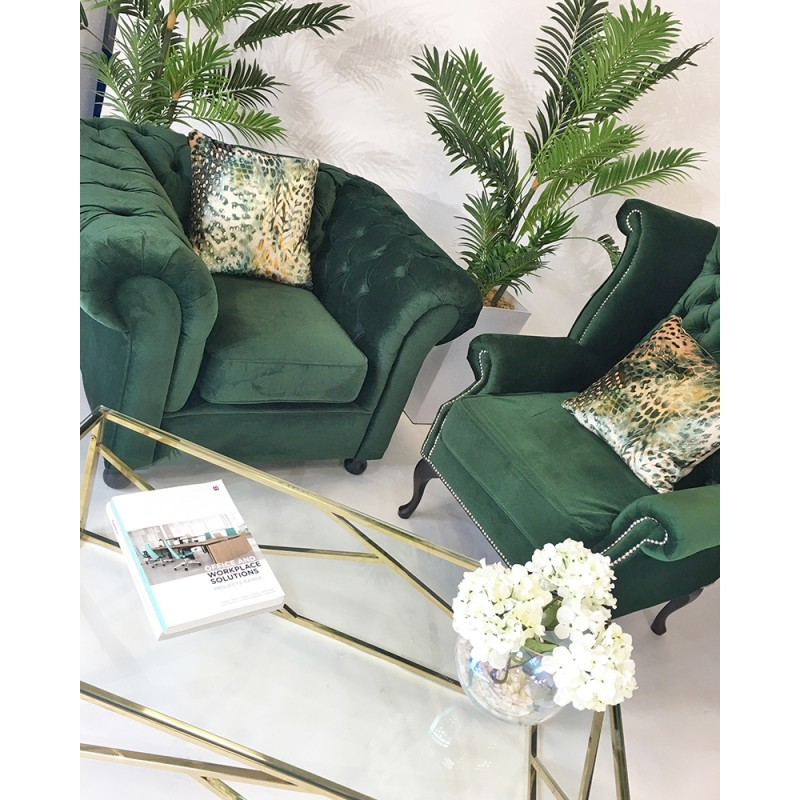 Green Velvet Furniture Hire