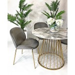Coco Grey Velvet Dining Chair