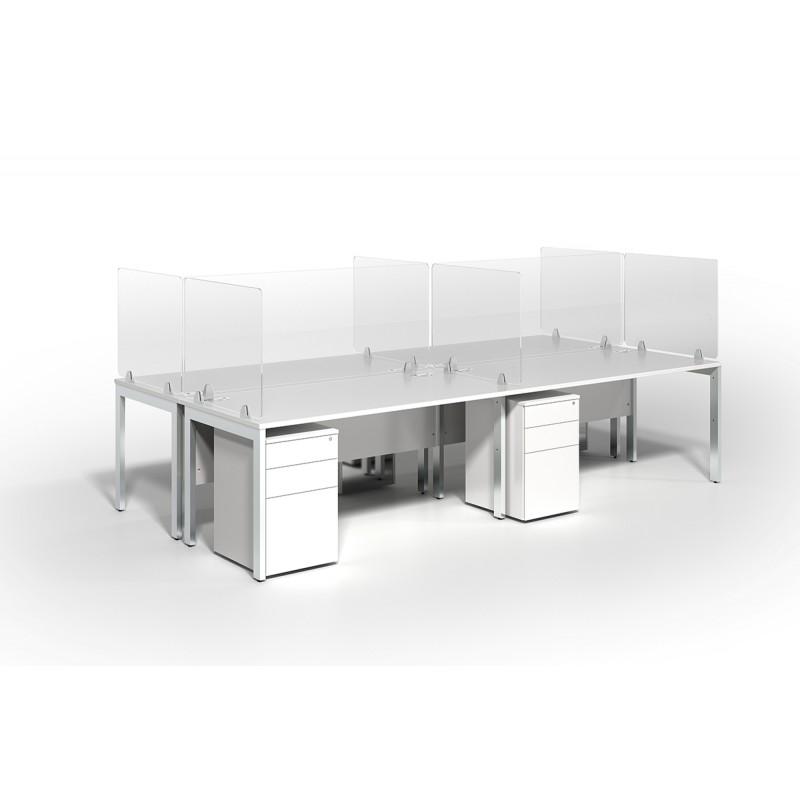 Acrylic Sneeze Guard Desk Screen