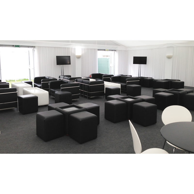 Black Cube Seating