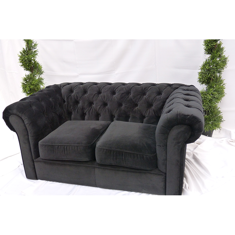 Black Velvet Chesterfield Sofa Rental