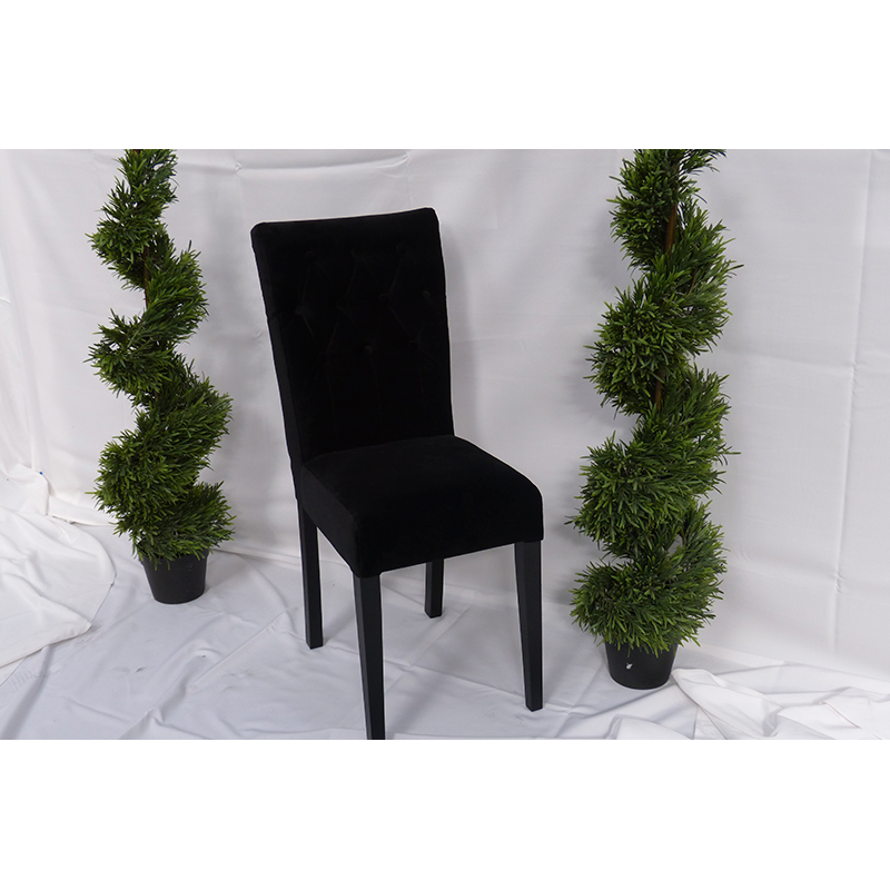 Black Velvet Dining Chair Hire