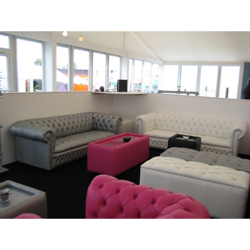 Black Chesterfield Modular Seating