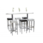 White Long Poseur Table