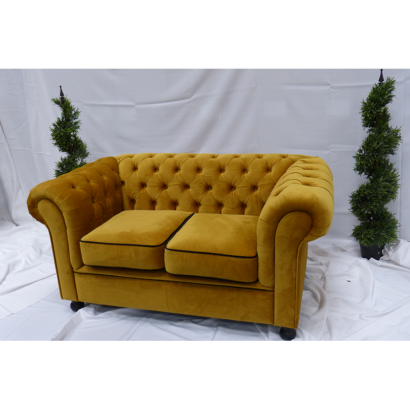 Gold Velvet Chesterfield Sofa