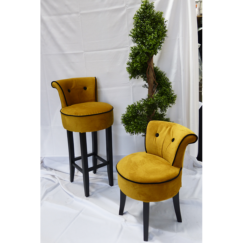 Gold velvet chairs