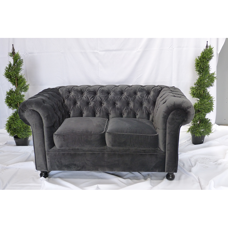 Grey Velvet Chesterfield Sofa Hire