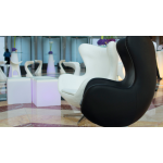 White Leather Egg Style Chair