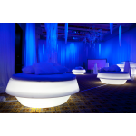 LED Illuminated Pouffe
