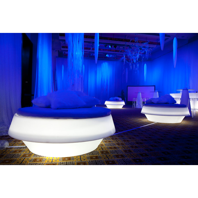 LED Circular Pouffe Hire