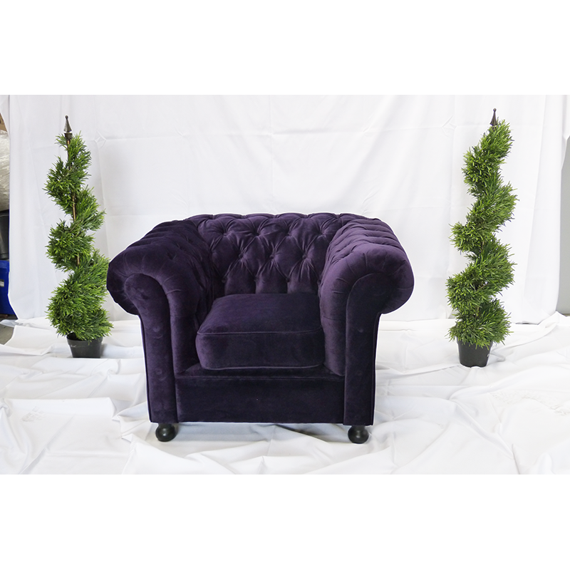 Purple Velvet Chesterfield Seating