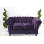 Purple Velvet Chesterfield Armchair