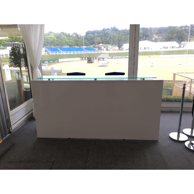 Glass Top Reception Desk