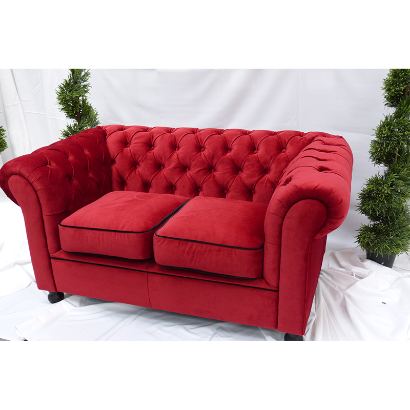 Red Velvet Chesterfield Style 2 Seater Sofa | Sofa Hire
