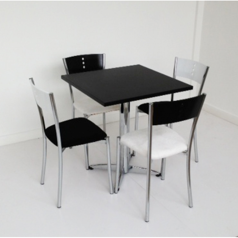 Black Square Bistro Table