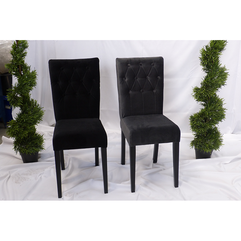 Black Velvet Dining Chairs