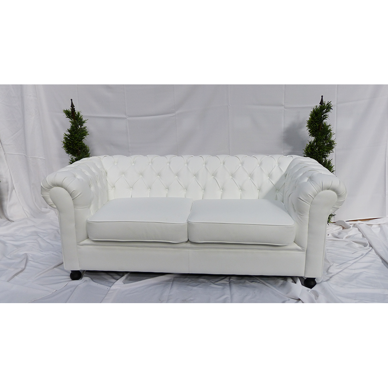 Large white leather sofa rental