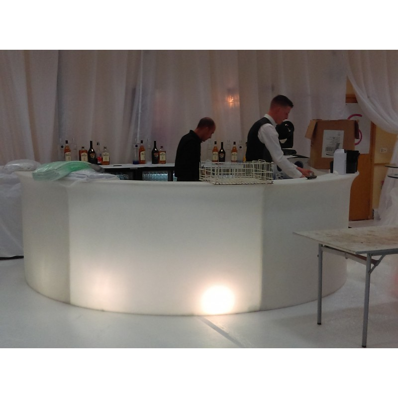 LED Illuminated Curve Bar