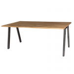 Athens Bench Style Dining Table with Oak Top