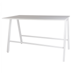 Athens Bench Style Poseur Table with White Top
