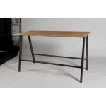 Athens Bench Style Poseur Table with Oak Top
