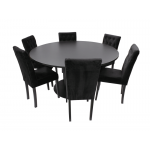 Black Spider Base Dining Table - White Circular Top
