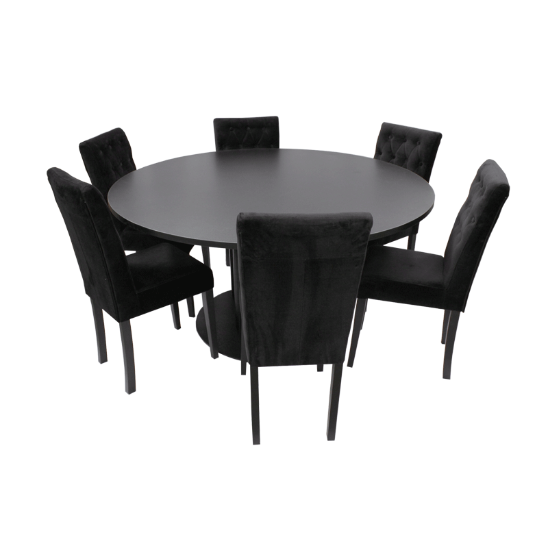 Black Velvet Dining Chair Hire Chester