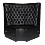 Black Leather Booth Seating - Corner
