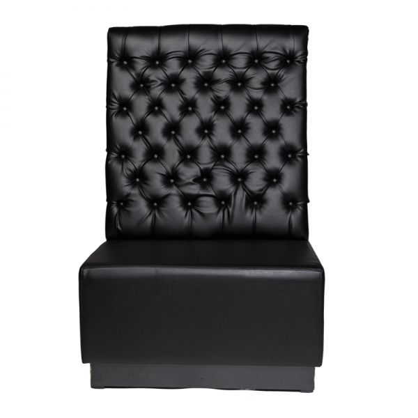 Black Leather Booth Seating - Back Section