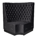 Black Velvet Booth Seating - Corner