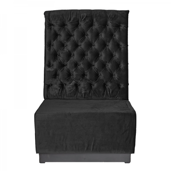 Black Velvet Booth Seating Back Section