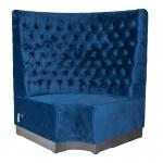Royal Blue Velvet Booth Seating Corner Section