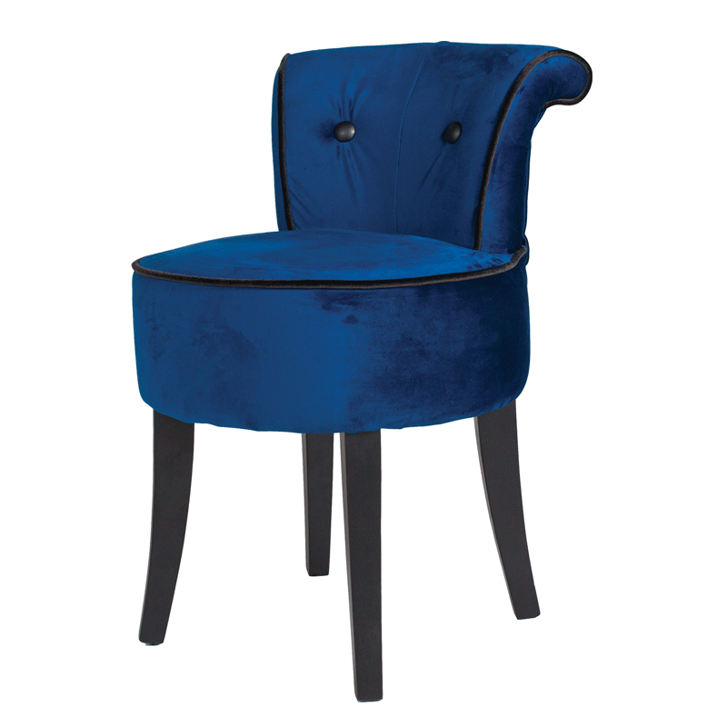 Royal Blue George Velvet Low Chair